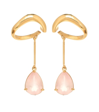 Alan Crocetti - Exclusive to Mytheresa – Drop gold vermeil ear cuffs - mytheresa.com