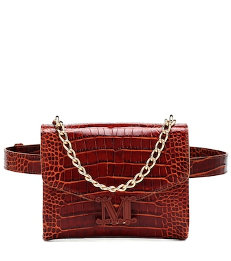 Max Mara - Linda Small croc-effect leather belt bag - mytheresa.com
