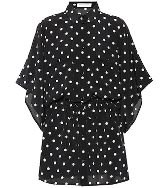 Saint Laurent - Polka dot silk minidress - mytheresa.com