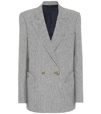 Blazé Milano - Everynight checked linen blazer - mytheresa.com