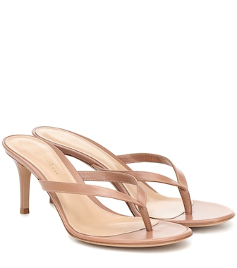 Gianvito Rossi - Calypso 70 leather thong sandals - mytheresa.com