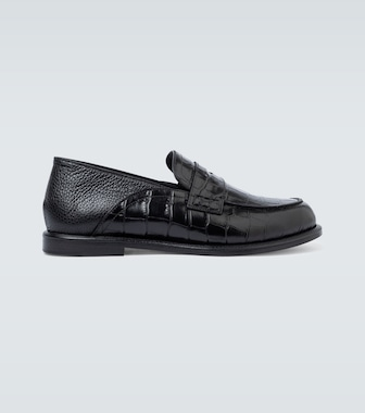 Loewe - Slip-on leather loafers - mytheresa.com