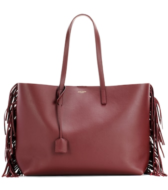 Saint Laurent - Fringed leather shopper - mytheresa.com