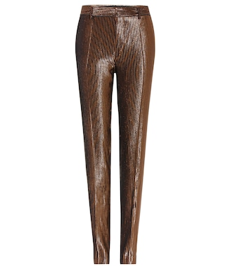 Haider Ackermann - Striped metallic wool-and-silk blend trousers - mytheresa.com
