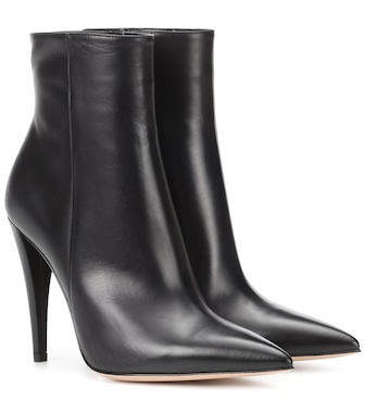 Gianvito Rossi - Leather ankle boots - mytheresa.com
