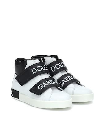 Dolce & Gabbana Kids - Leather high-top sneakers - mytheresa.com