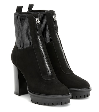 Gianvito Rossi - Mason suede platform ankle boots - mytheresa.com