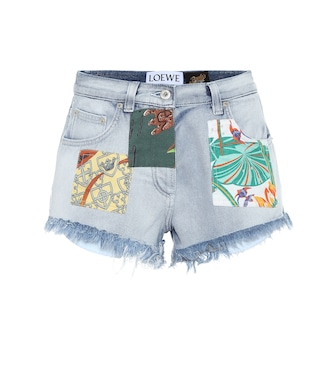 Loewe - Paula's Ibiza high-rise denim shorts - mytheresa.com
