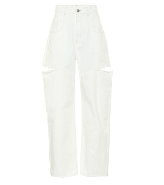 Maison Margiela - High-rise cut-out straight jeans - mytheresa.com
