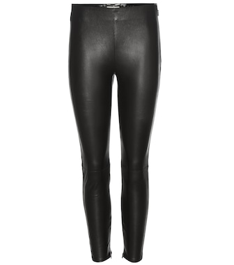 Saint Laurent - Leather trousers - mytheresa.com