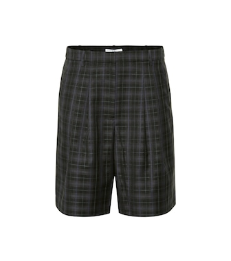 Tibi - Checked wool-blend shorts - mytheresa.com