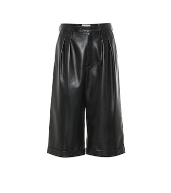Saint Laurent - Leather Bermuda shorts - mytheresa.com