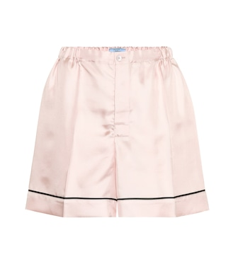 Prada - Silk-satin shorts - mytheresa.com