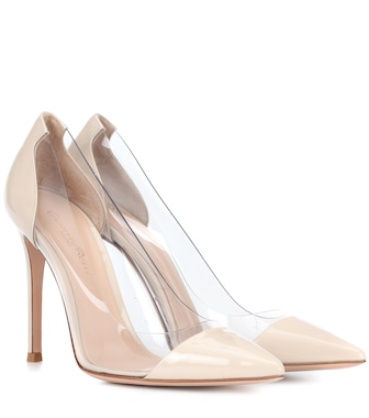 Gianvito Rossi - Plexi leather pumps - mytheresa.com