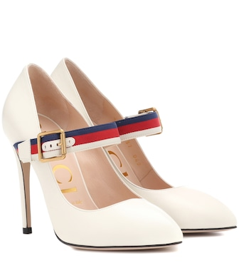 Gucci - Sylvie leather pumps - mytheresa.com