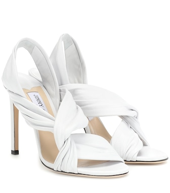 Jimmy Choo - Lalia 100 leather sandals - mytheresa.com