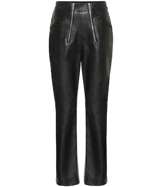 Stella McCartney - High-rise faux leather pants - mytheresa.com