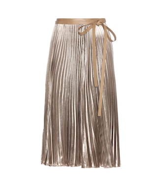 Valentino - Pleated velvet skirt - mytheresa.com