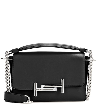 Tod's - Double T Mini leather shoulder bag - mytheresa.com