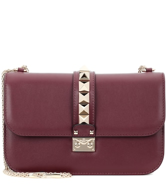 Valentino - Valentino Garavani Lock Medium leather shoulder bag - mytheresa.com