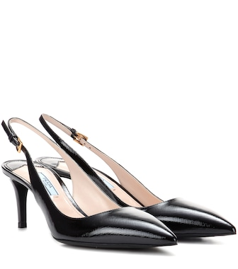 Prada - Leather slingback pumps - mytheresa.com