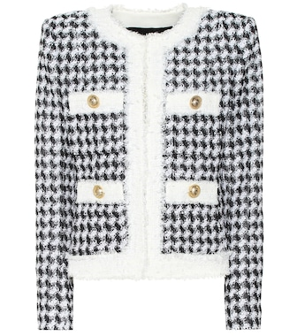 Balmain - Sequinned tweed jacket - mytheresa.com