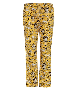 Isabel Marant, Étoile - Alka printed cotton cropped trousers - mytheresa.com