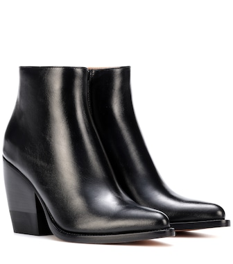 Chloé - Leather ankle boots - mytheresa.com