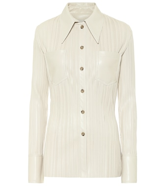 Nanushka - Blaine pleated faux leather shirt - mytheresa.com