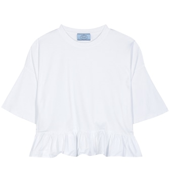 Prada - Cotton crop top - mytheresa.com
