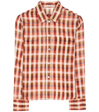 Miu Miu - Plaid cotton shirt - mytheresa.com