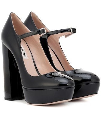 Miu Miu - Mary Jane patent leather pumps - mytheresa.com