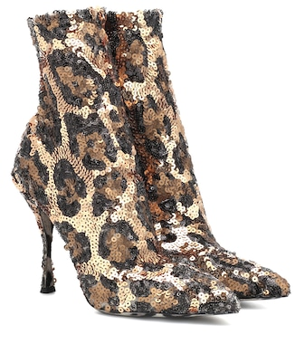 Dolce & Gabbana - Sequined ankle boots - mytheresa.com