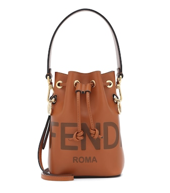 Fendi - Mon Trésor Mini leather bucket bag - mytheresa.com