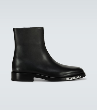 Balenciaga - Soft Bootie leather boots - mytheresa.com