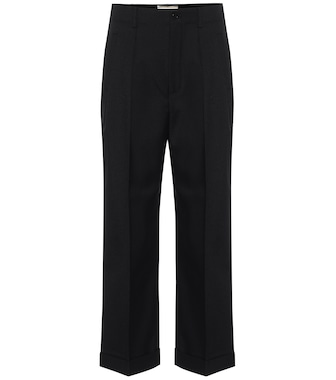 Saint Laurent - High-Rise-Hose aus Wolle - mytheresa.com