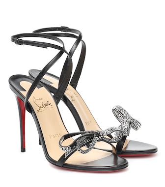 Christian Louboutin - Jewel Queen 100 embellished leather sandals - mytheresa.com