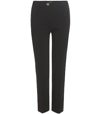 Salvatore Ferragamo - Cropped jersey trousers - mytheresa.com