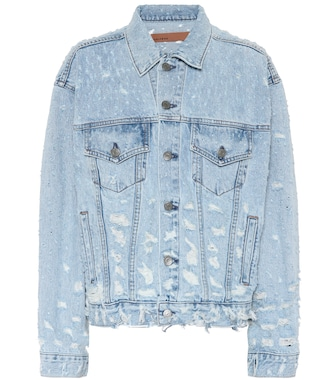 Grlfrnd - Distressed denim jacket - mytheresa.com