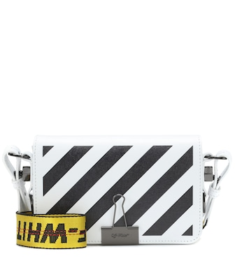 Off-White - Mini Binder Clip leather shoulder bag - mytheresa.com