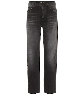 Saint Laurent - High-rise straight-leg jeans - mytheresa.com