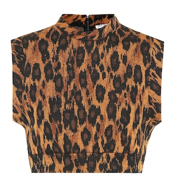 Miu Miu - Leopard-printed wool-blend crop top - mytheresa.com