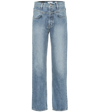 Re/Done - Double Yoke high-rise straight jeans - mytheresa.com