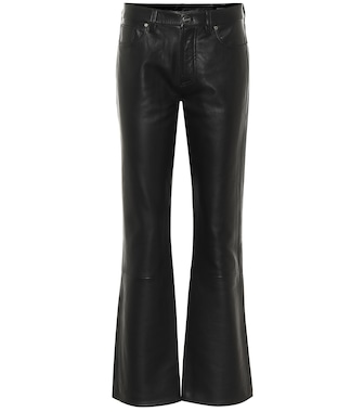 Goldsign - Mid-rise leather flared pants - mytheresa.com