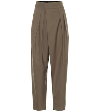Low classic - High-rise wool carrot pants - mytheresa.com