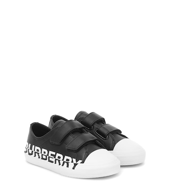 Burberry Kids - Larkhall leather sneakers - mytheresa.com