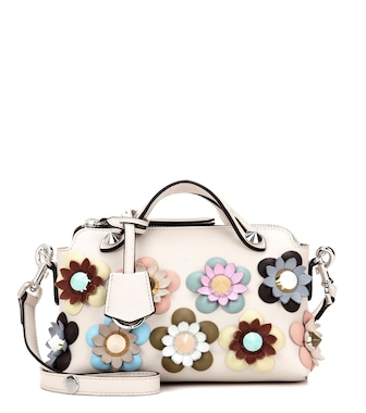 Fendi - By The Way Mini embellished leather shoulder bag - mytheresa.com