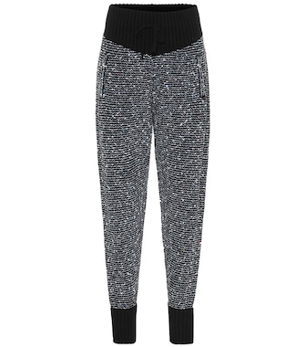 Alessandra Rich - Sequined cashmere-blend trackpants - mytheresa.com