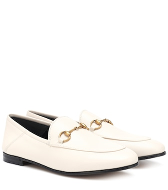 Gucci - Brixton Collapsible leather loafers - mytheresa.com