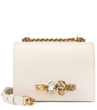 Alexander McQueen - Small Skull crystal shoulder bag - mytheresa.com